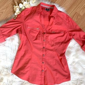 Express. The Essentials Coral Top XS